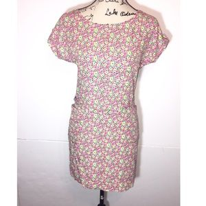 Lilly Pulitzer T-Shirt Floral Pocket Dress Tie Up